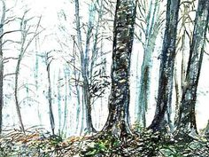 The image of the Arbaro watercolor, 500x375 pixels, -- by Jean-Pierre Cavelan {Yanpetro KAVLAN} --