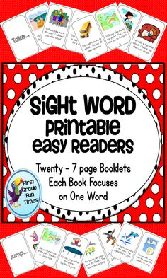 My school follows Jan Richardson's guided reading model and we introduce one Dolch word per day. These 20 books each focus on ONE word. It was hard to easily find books that focused on just one word at a time, so we have been using these. The kids love  them, can easily read them, and get the chance to see the sight word of the day in context.  $