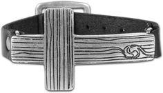 Kerusso Faith Gear Sideways Wood Cross Christian Bracelet