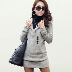 13d1070bc3fe3c  Oasap -  oasap Fashion Solid Button Long Sleeve Pullover Hoodie -  AdoreWe.com