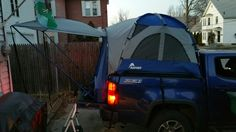 Inside Of My Chevy Colorado Truck Tent With Custom Fit Air