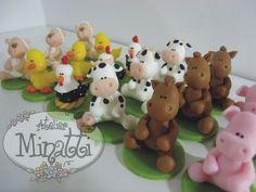 animales de granja | Porcelana fría / Cold porcelain / Masa ...