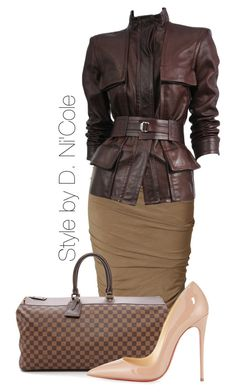 """Untitled #2039"" by stylebydnicole ❤ liked on Polyvore featuring Donna Karan, Tom Ford and Christian Louboutin"