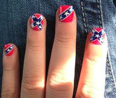 Rebel flags nails.