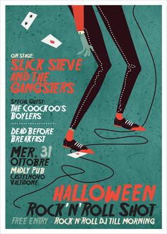 Halloween Night - Gig Poster by Giulia Ripa, via Behance