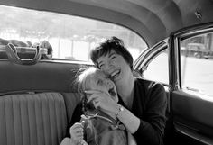 """Leo Fuchs - Shirley MacLaine and daughter Sachi during """"Irma la Douce"""" Sachi Parker, Laughing Animals, Sweet Charity, Leo, Shirley Maclaine, Film Institute, Academy Award Winners, People Laughing, Children Photography"""