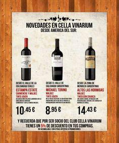 Hace tiempo entraron estos 3 vinos a Cella Vinarium... hoy en día tenemos muchísimos más...