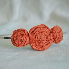 orange flower headband