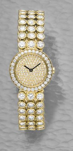 PHILLIPS : CH060208, Harry Winston, A Diamond and Gold Lady's Wristwatch
