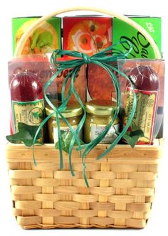 Cheese Sausage and More Gourmet Food Basket - Birthday or Thank You Gift Idea - http://www.yourgourmetgifts.com/cheese-sausage-and-more-gourmet-food-basket-birthday-or-thank-you-gift-idea/