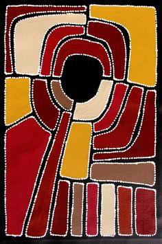 Aboriginal Artwork by Sally Clark. Sold through Coolabah Art on eBay. Cataogue ID 15659
