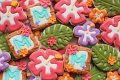 hawaiian flower cookies - Buscar con Google