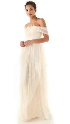I loved my Sue Wong gone BUT if I could do it again ----- OMG this would be it!!! // Love, Yu Off Shoulder Tulle Gown