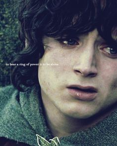 Frodo meme: (2/8) eight quotes: to bear a ring of power is to be alone...