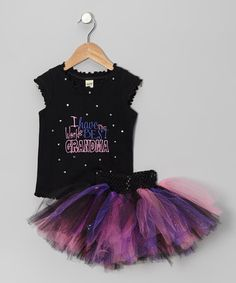 Take a look at this Black & Pink 'Best Grandma' Tank & Tutu - Infant, Toddler & Girls by Brookie Jos on #zulily today!