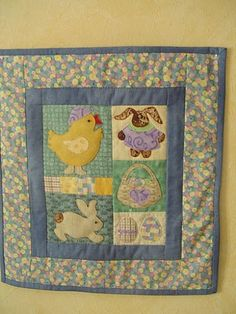 maked this little easter quilt from a pattern of Debbie Mumm some ...
