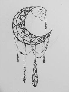 Cute Tattoos, New Tattoos, Small Tattoos, Tattoos For Guys, Tatoos, Mandala Tattoo Design, Tattoo Designs, Cresent Moon Tattoo, Cresent Moon Drawing