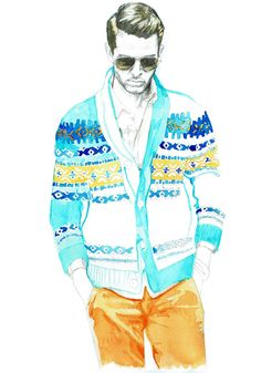 Resultado de imagen para fashion illustration base man