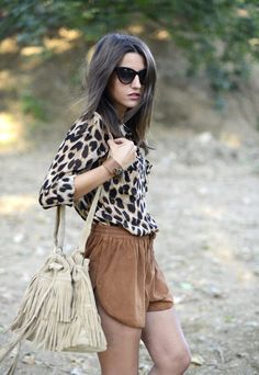 Heading Or Madrid ( Sunglasses & Animal Print Fur Real Faux Shirts & Blouses ) with Alexandra Pereira