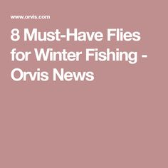8 Must-Have Flies for Winter Fishing - Orvis News