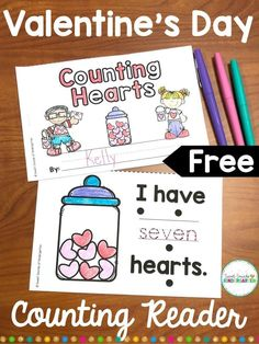 This is the perfect activity for emergent readers in kindergarten or grade one f. - This is the perfect activity for emergent readers in kindergarten or grade one for Valentine's Da - Valentines Day Book, Valentine Theme, Valentine Stuff, Kindergarten Activities, Kindergarten Classroom, Classroom Ideas, Kindergarten Freebies, Montessori Elementary, Classroom Freebies