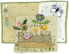Cuttings by Sharon Blackman ***** stitch on paper ***** Freehand Machine Embroidery, Free Motion Embroidery, Art Textile, Textile Artists, Small Quilts, Mini Quilts, Applique Quilts, Embroidery Applique, Fabric Postcards