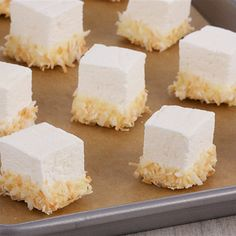 Try this Coconut Marshmallows recipe by Chef Anna Olson. This recipe is from the show Bake With Anna.