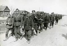 Voluntarios españoles marchan hacia sus destinos en la División Azul.-division-azul-rusia-