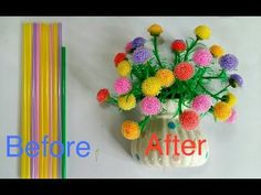 ดอกไม้จากหลอด by มายมิ้นท์ - YouTube