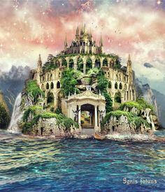 - Fantasy world - Universal Fantasy Magic, Fantasy City, Fantasy Castle, Fantasy Places, Sci Fi Fantasy, Fantasy World, Fantasy Island, Fantasy Inspiration, Story Inspiration