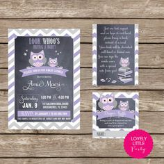 Printable Owl Themed Baby Shower Collection  by lovelylittleparty