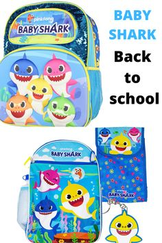 Baby Shark Kids Children Back to School Backpacks and Lunch Bags #babysharkbackpack #babysharkkidsbackpack #babysharkschoolbackpack #babysharklunchbag Back To School Backpacks, Kids Backpacks, Sharks For Kids, Us School, Lunch Bags, Little Girl Fashion, Cool Things To Buy, Stuff To Buy, Baby Shark