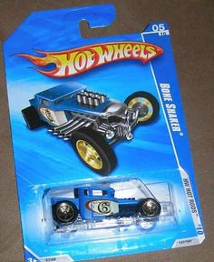HOT WHEELS 2010 HOT RODS 05 OF 10 BLUE BONE SHAKER by HOT WHEELS. $2.99. Exposed front engine. Green. This is a Green Drift King car withan exposed front engine and a huge rear wing, this 2-seat tuner was made for the tire screeching and sideways sliding into victory.