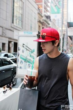 Jung Yong Hwa // CNBLUE - I'm crazy about major cities.. that's where I belong.. seeing my kind of man in a big city setting...  it just makes me ache..