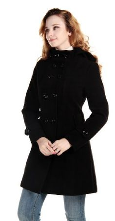 LANHUACAO Women Wool Blends Coat Trench Hooded Coat Long Jacket Outwear Overcoat for only $64.99 You save: $25.00 (28%) + Free Shipping