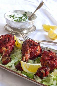Yerbabuena en la cocina: Pollo tandoori con Raita (ensalada india de pepino)