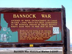 Bannock War Historical Marker 277 - Idaho Historical Markers on Waymarking.com