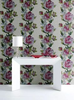 Rose tapestry wallpaper