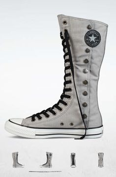 i need these in my life. gray. size 6W.  since Converse won't get with the program and let you pin, go here to buy!  http://www.converse.com/?csid=690#/products/Sneakers/ChuckTaylor/129374F