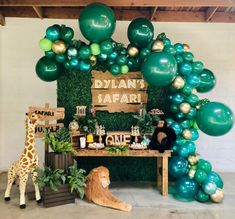 Safari First Birthday Candy Dessert Table by Wood Sign by Decretive Cookies Safari Theme Birthday, Boys First Birthday Party Ideas, Jungle Theme Parties, Wild One Birthday Party, Birthday Candy, Baby First Birthday, Boy Birthday Parties, Cake Birthday, 1st Birthday Ideas For Boys