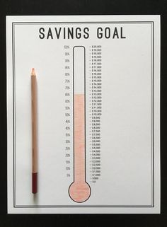 A savings thermometer is a great and simple way to track your progress towards any type of savings goal! We have used these to save for our emergency fund and a house down payment and we want to share it with you! Bullet Journal Paper, Creating A Bullet Journal, Bullet Journal Lettering Ideas, Bullet Journal Notebook, Bullet Journal Aesthetic, Bullet Journal School, Bullet Journal Ideas Pages, Bullet Journal Inspiration, Book Journal