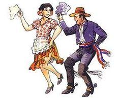 Dibujos de Bailes tradicionales de Chile         La Trastrasera     Sau Sau     Choique Purrum    bailes de Chile para colorear      Chil...