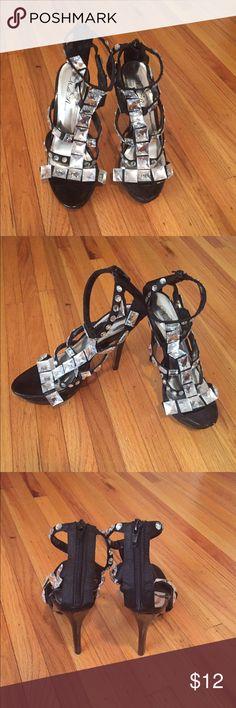 Black rhinestone gladiator heels Wild Rose black rhinestone, platform gladiator heels. Shoes Platforms