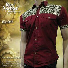 Dress Hijab Batik Kombinasi Ideas For 2019 African Men Fashion, African Wear, Batik Mode, Gents Shirts, African Shirts For Men, African Print Shirt, Dad Outfit, Pencil Skirt Casual, Mens Designer Shirts