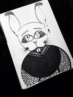 Dark bunny Illustration Ink No computer 2015