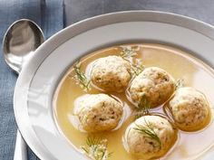 Matzo ball soup- Food Network Recipe