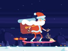 Play with the coolest Santa! Try our newest minigame! Happy Holidays!  http://hoverbox.in/  We collaborated with Super Santa for this year's holiday present. He went ho ho hoverboarding, but left t...