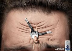 Amazing and Creative Print Ads - Nivea Men: Because Life Makes Wrinkles Creative Advertising, Ads Creative, Advertising Poster, Advertising Design, Marketing And Advertising, Creative Design, Advertising Campaign, Advertising Space, Creative Coffee