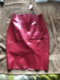 2fae726d6a Libidex Metallic Red Latex Pencil Skirt BNWT Size Small #fashion #clothing  #shoes #