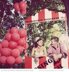 How cute! Have a kissing booth at your wedding.. Love